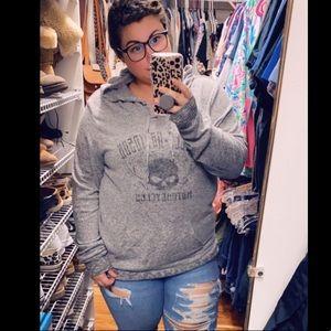 Harley Davidson light weight fuzzy sweatshirt